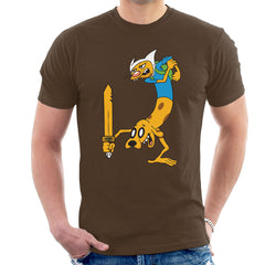 Cat Dog Adventure Time Men's T-Shirt