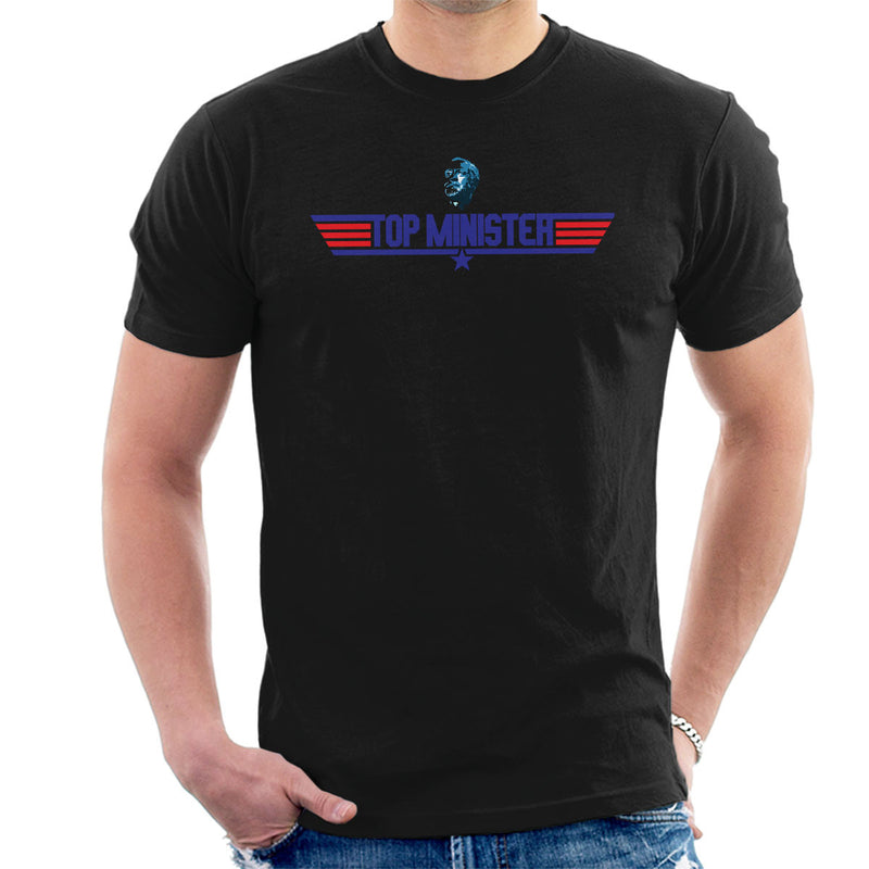 Top Minister Jeremy Corbyn Top Gun Logo Men's T-Shirt