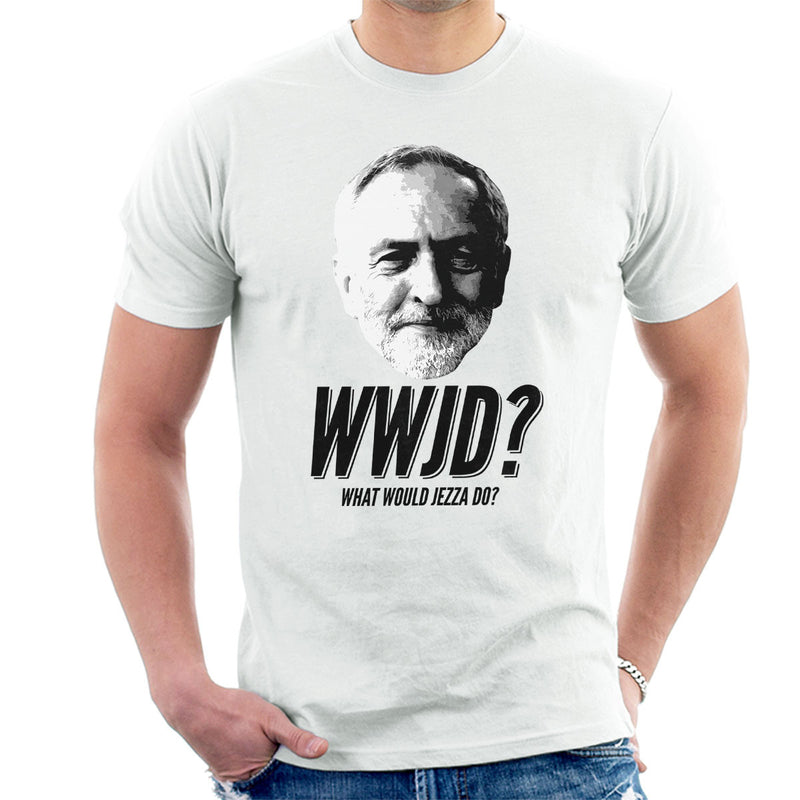 Jeremy Corbyn WWJD What Would Jezza Do Men's T-Shirt