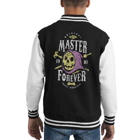 Master Forever Skeletor Masters Of The Universe Kid's Varsity Jacket