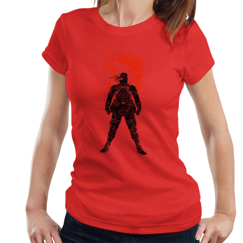 3f0df62ee90 ... Metal Gear Solid Foxhound Big Boss Logo Women s T-Shirt by Donnie -  Cloud City ...