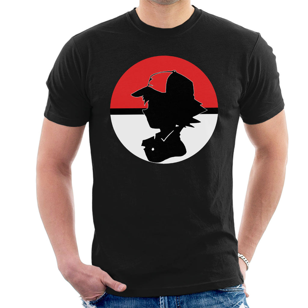 Ash Ketchum Pokeball Silhouette Pokemon Men's T-Shirt