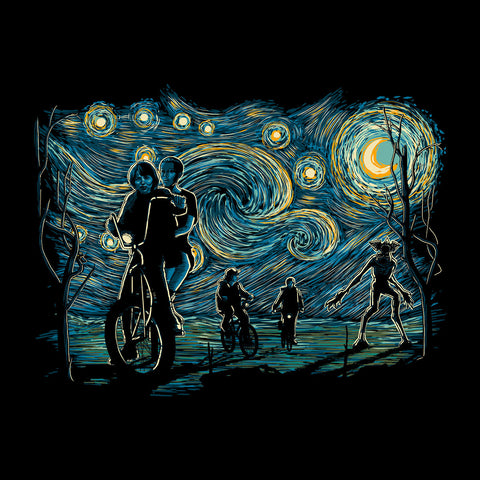 Stranger Night Stranger Things Van Gogh Mashup