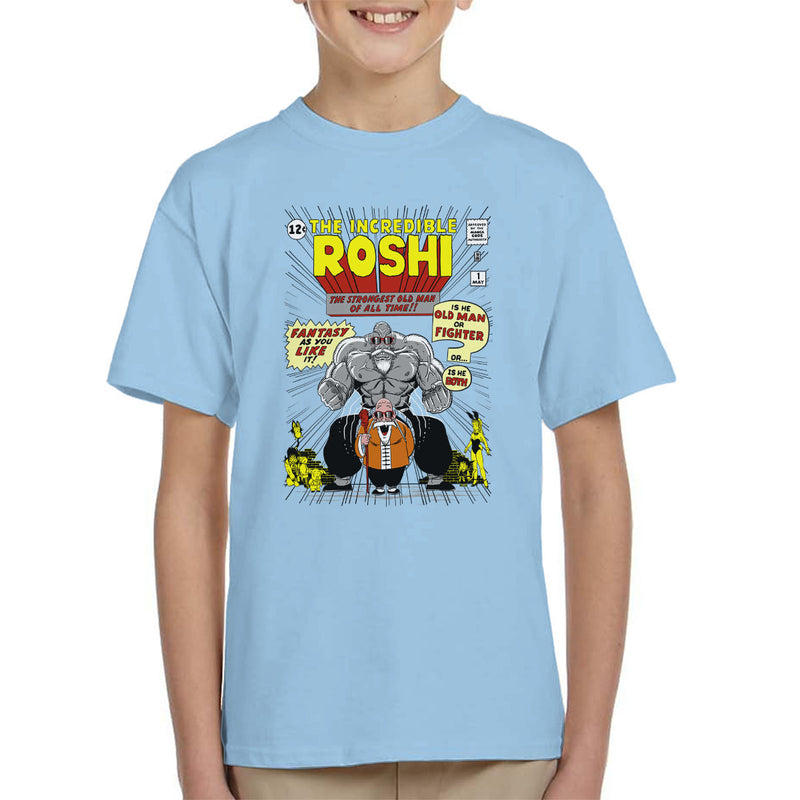 The Incredible Roshi The Strongest Old Man Dbz Kid's T-Shirt