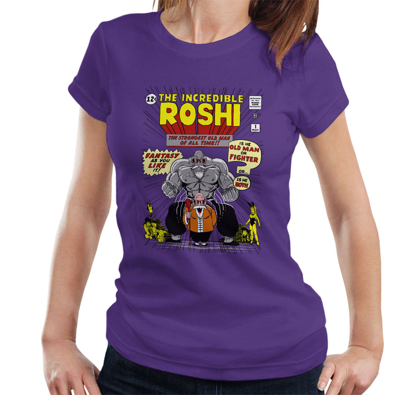 The Incredible Roshi The Strongest Old Man Dbz Women's T-Shirt