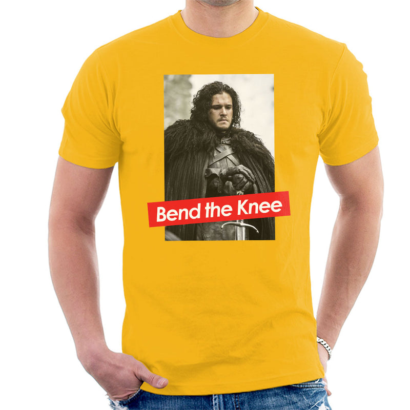 Game Of Thrones Jon Snow Bend Knee Obey Men's T-Shirt