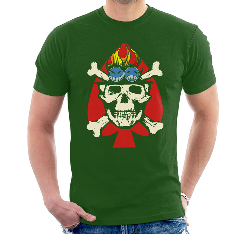Fire Fist Aces Jolly Roger One Piece Men's T-Shirt