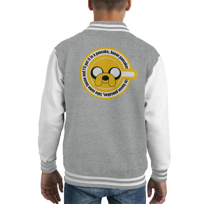 Adventure Time Jake the Dog Pancakes Kid's Varsity Jacket by Retro Freak - Cloud City 7
