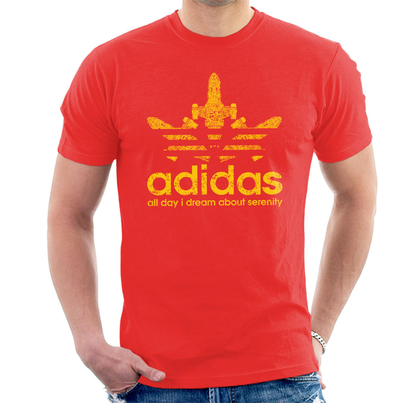 Firefly Serenity Adidas Logo Men's T-Shirt by Karmadesigner - Cloud City 7