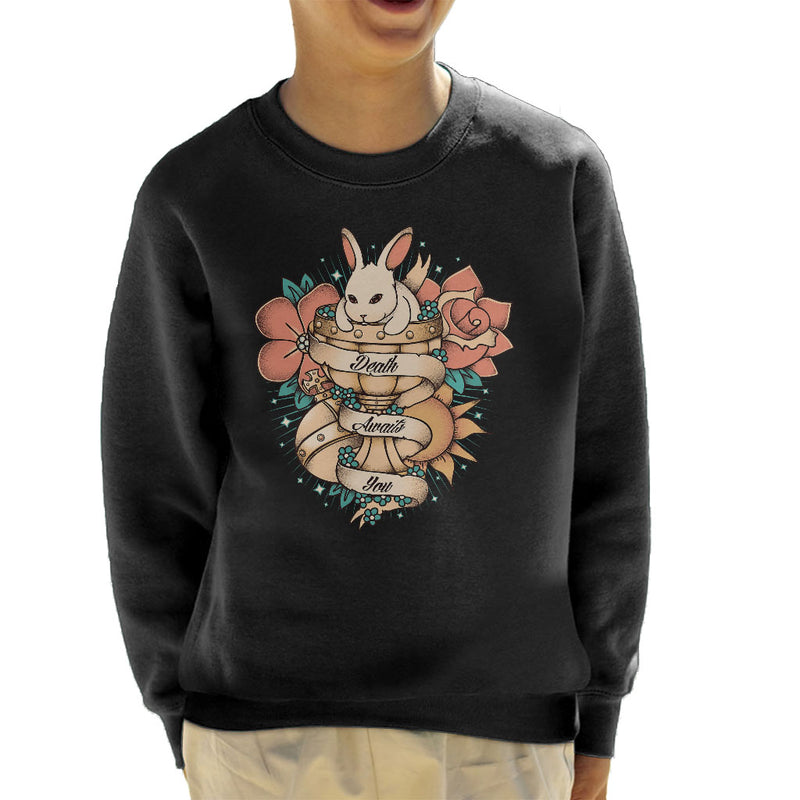 b1bfef576 ... Rabbit Of Caebannog Monty Python And The Holy Grail Tattoo Style Kid's  Sweatshirt by Typhoonic ...