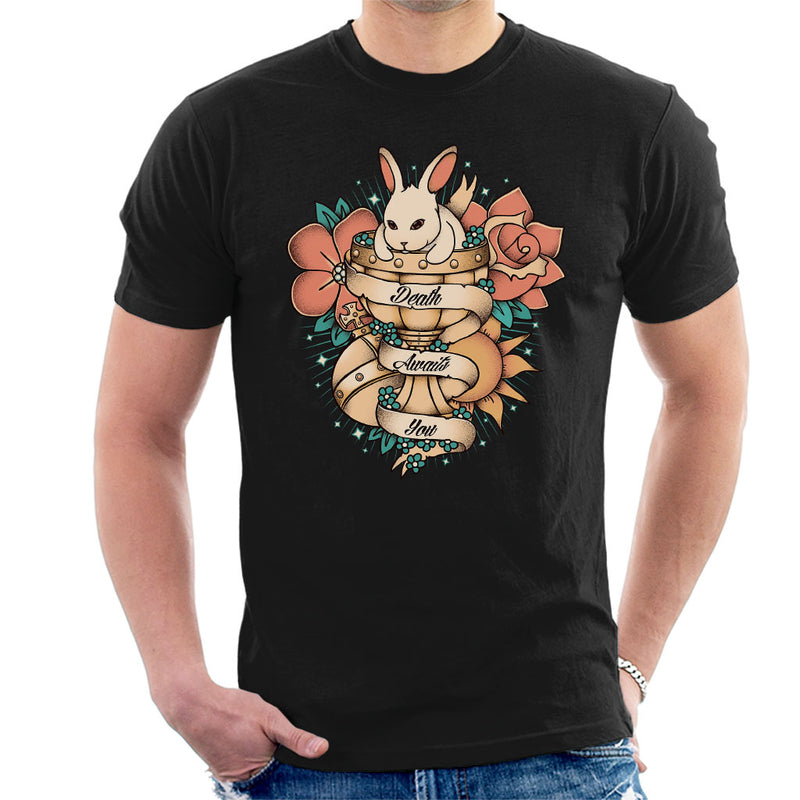 f22e425ea ... Rabbit Of Caebannog Monty Python And The Holy Grail Tattoo Style Men's T -Shirt by ...