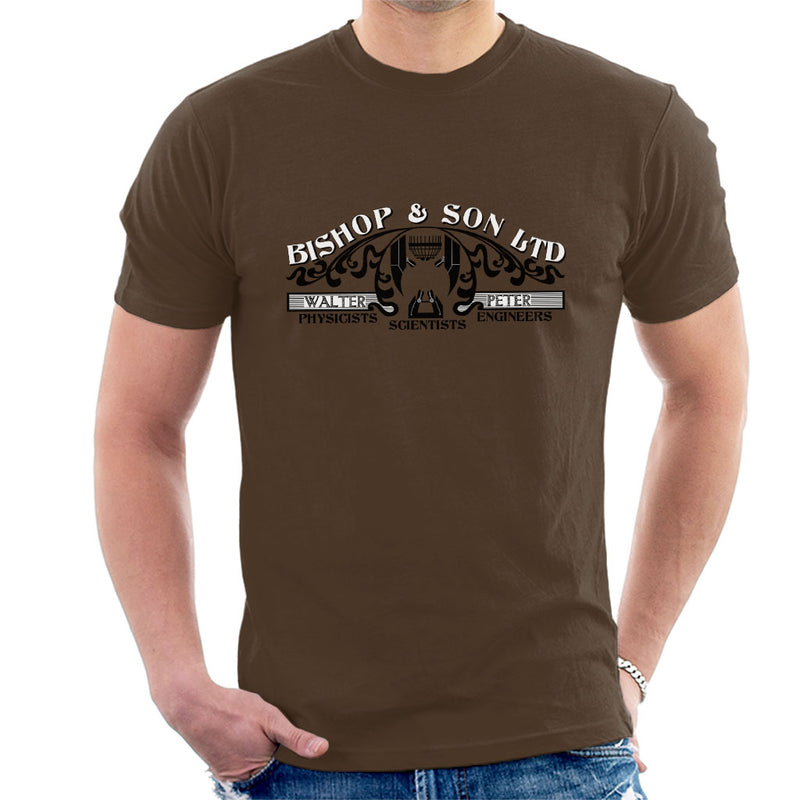 Fringe Bishop And Son Business Logo Men's T-Shirt by Flaming Imp - Cloud City 7