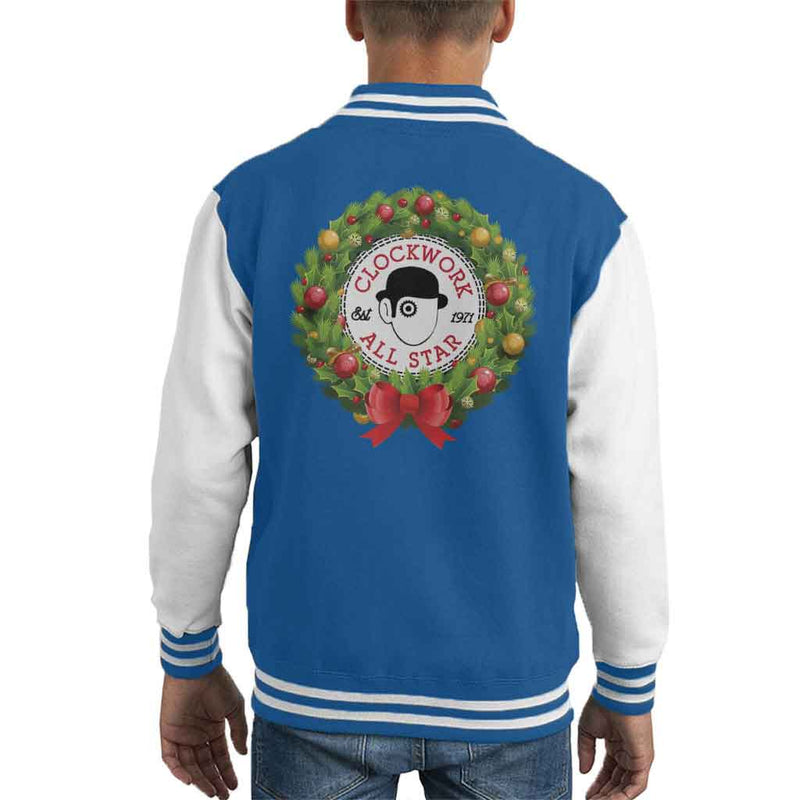 A Clockwork Orange Christmas Wreath All Star Converse Logo Kid's Varsity Jacket by Stroodle Doodle - Cloud City 7