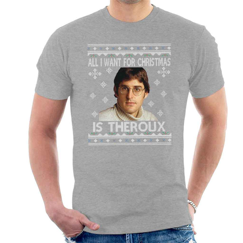 2322c37f2129 ... All I Want For Christmas Is Louis Theroux Knit Pattern Men's T-Shirt by  Nova5 ...