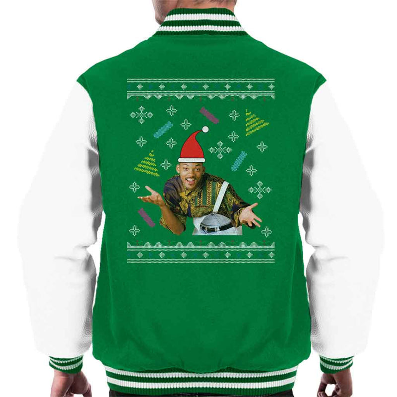 Will Smith Christmas Sweater.Fresh Prince Of Bel Air Will Smith Christmas Knit Pattern Men S Varsity Jacket