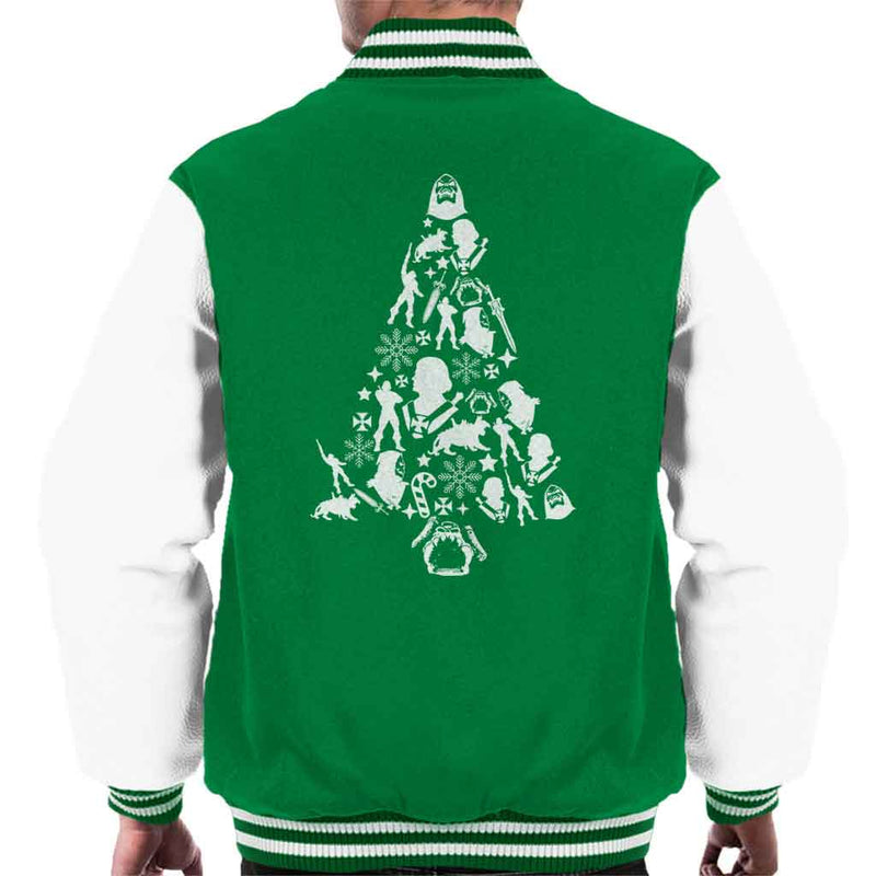 he man christmas silhouette pattern mens varsity jacket by pheasant omelette cloud city 7 - He Man Christmas Sweater