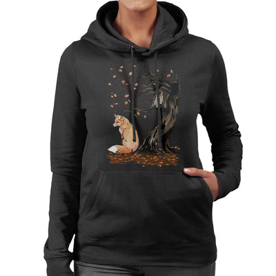 402093a6 Animals Winds Of Autumn Fox And Owl Women's Hooded Sweatshirt by  Dr.Monekers - Cloud