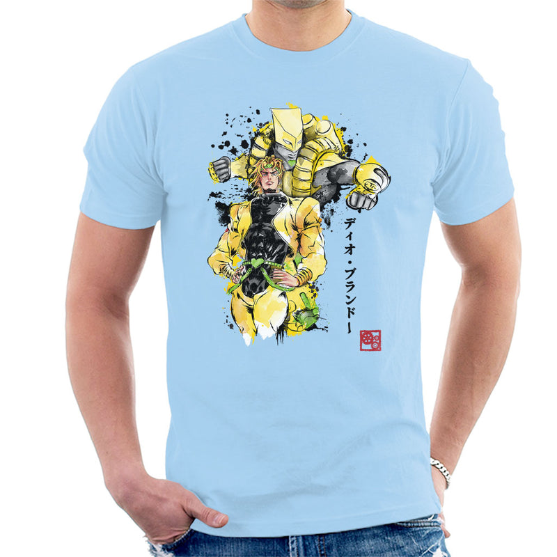 Yellow Jojos Bizarre Adventure Za Warudo Sumie Men's T-Shirt by Dr.Monekers - Cloud City 7