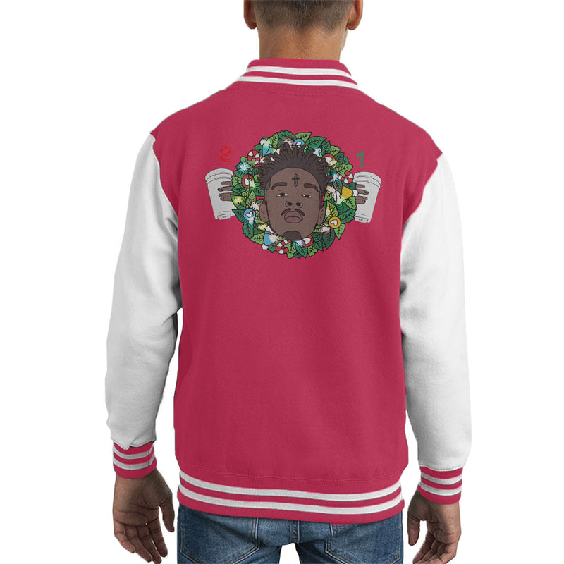 21 Savage Christmas.21 Savage Christmas Wreath Kid S Varsity Jacket