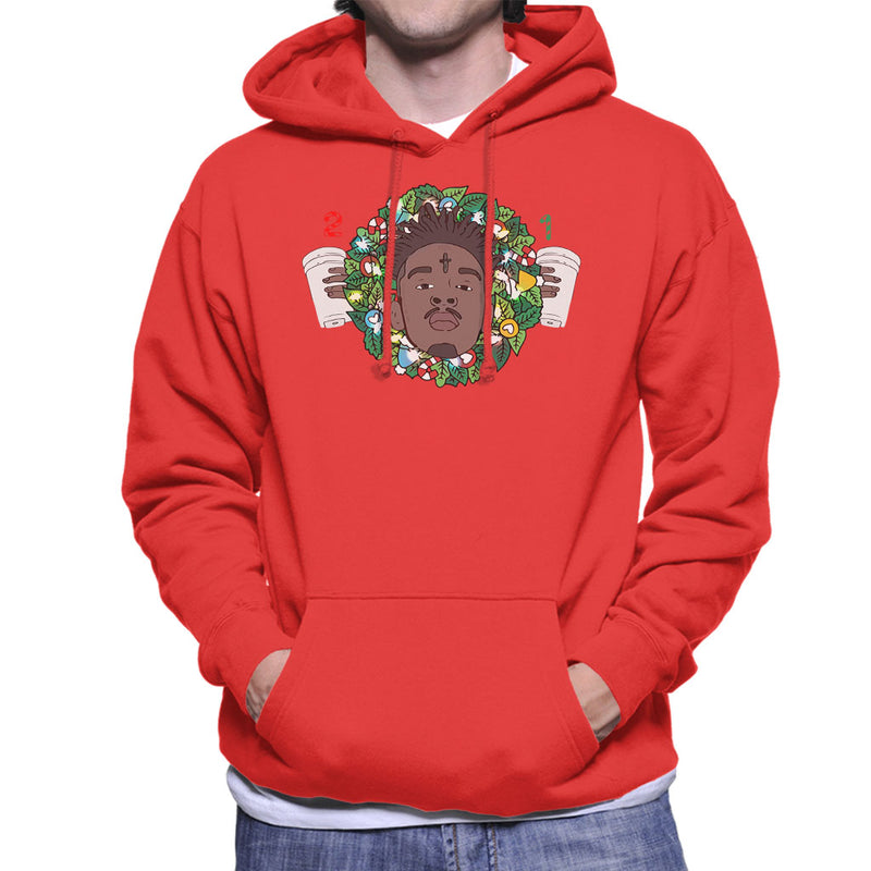 21 Savage Christmas.21 Savage Christmas Wreath Men S Hooded Sweatshirt