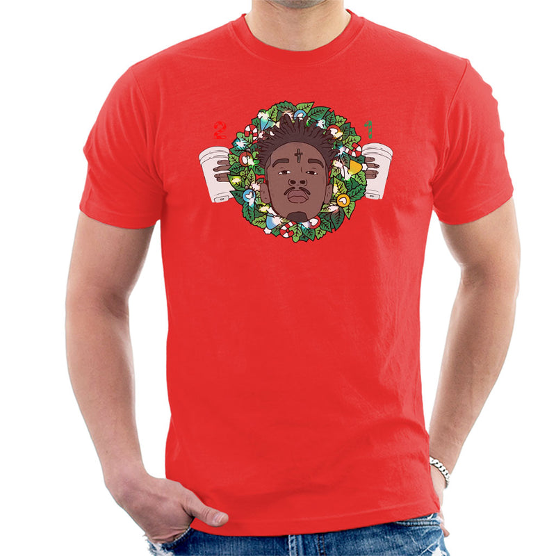 21 Savage Christmas.21 Savage Christmas Wreath Men S T Shirt