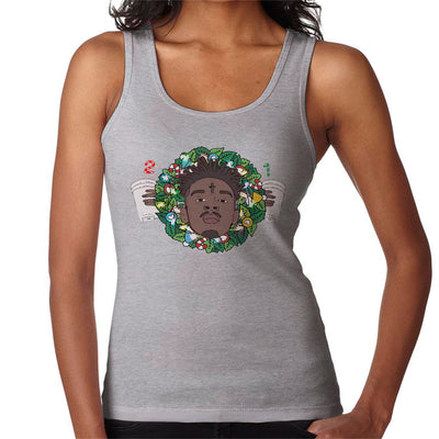 21 Savage Christmas Wreath Women's Vest by Mr.E - Cloud City 7