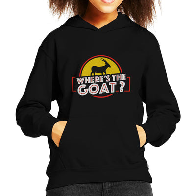 Wheres The Goat Jurassic Park Kid's Hooded Sweatshirt by yipptee - Cloud City 7