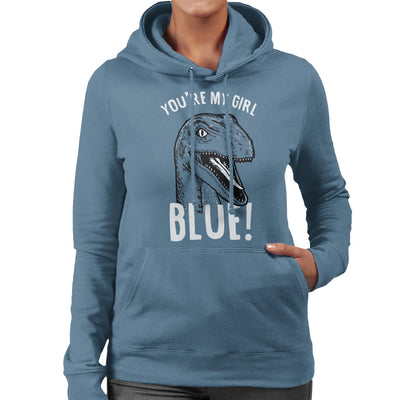 Youre My Girl Blue Jurassic World Women's Hooded Sweatshirt by yipptee - Cloud City 7