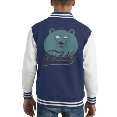 Cuddly Bear Kid's Varsity Jacket by Pigboom - Cloud City 7