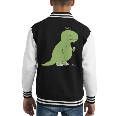 Dinosaur Ice Cream Cone Darn Kid's Varsity Jacket by Pigboom - Cloud City 7