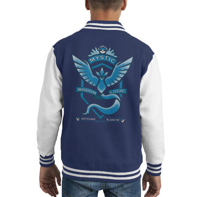 Pokemon Go Team Mystic Crest Kid's Varsity Jacket by Pigboom - Cloud City 7