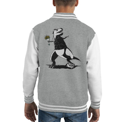 How Far Can You Throw Dinosaur Kid's Varsity Jacket by Pigboom - Cloud City 7