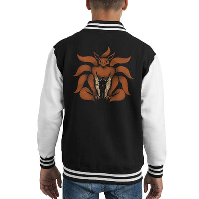 9 Tailed Shinobi Naruto Kid's Varsity Jacket by Pigboom - Cloud City 7