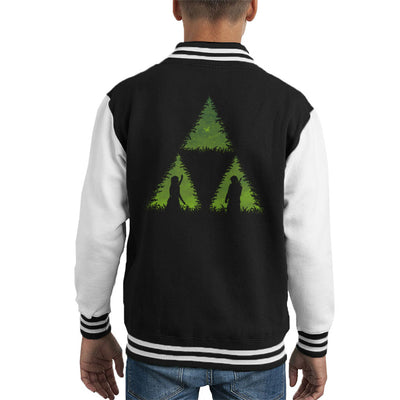 Let The Forces Glow Legend Of Zelda Kid's Varsity Jacket by Pigboom - Cloud City 7