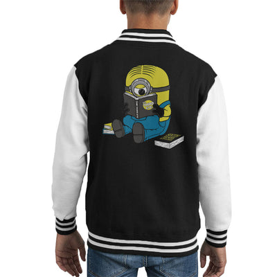 One Eyed Bookworm Minions Kid's Varsity Jacket by Pigboom - Cloud City 7