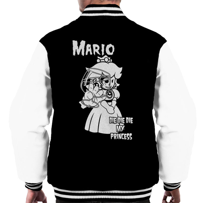 e5d28b53e4 ... Super Mario Album Artwork Parody Die Die My Princess Men's Varsity  Jacket by Manos pd ...