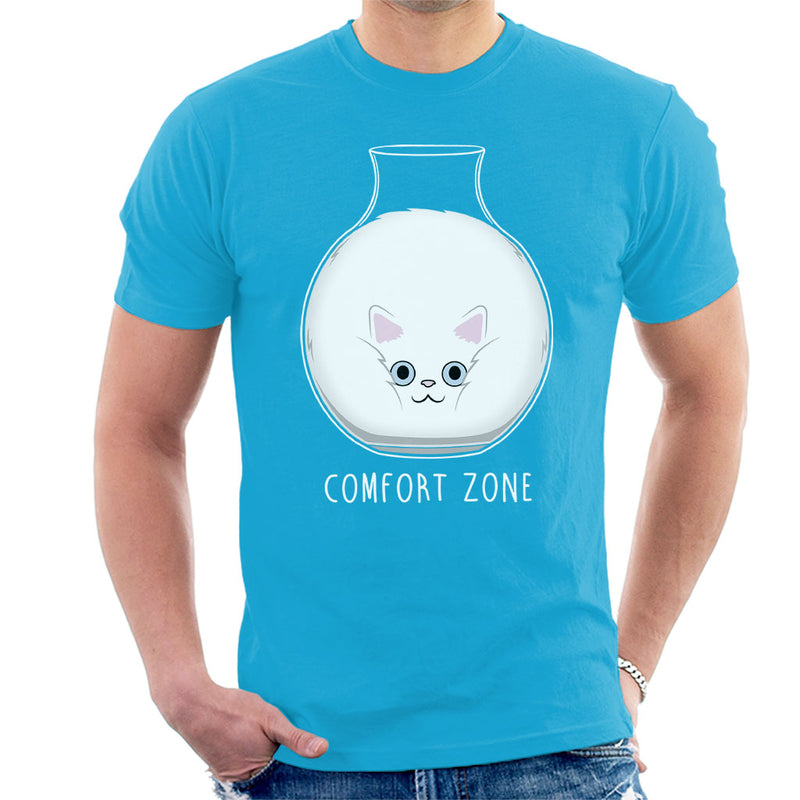 Squishy Cat Comfort Zone Men's T-Shirt by Raffiti - Cloud City 7