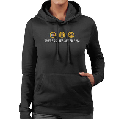 There Is Life After 5pm Women's Hooded Sweatshirt by OfficeGeekShop - Cloud City 7