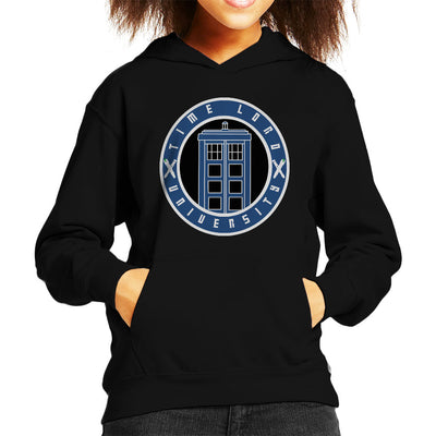 Doctor Who Timelord University Varsity Kid's Hooded Sweatshirt by Jimmy Gatti - Cloud City 7