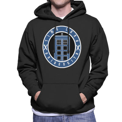 Doctor Who Timelord University Varsity Men's Hooded Sweatshirt by Jimmy Gatti - Cloud City 7