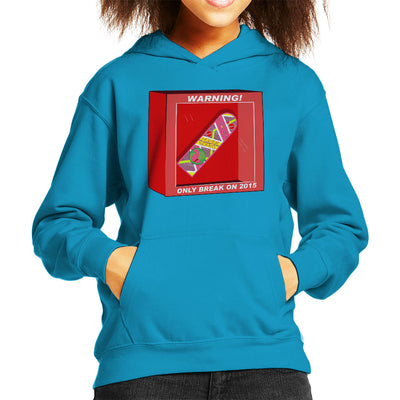 Back To The Future Hoverboard Break In 2015 Kid's Hooded Sweatshirt by Jimmy Gatti - Cloud City 7