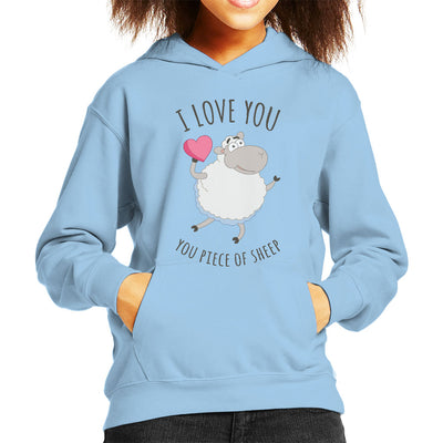 I Love You You Piece Of Sheep Kid's Hooded Sweatshirt by OfficeGeekShop - Cloud City 7