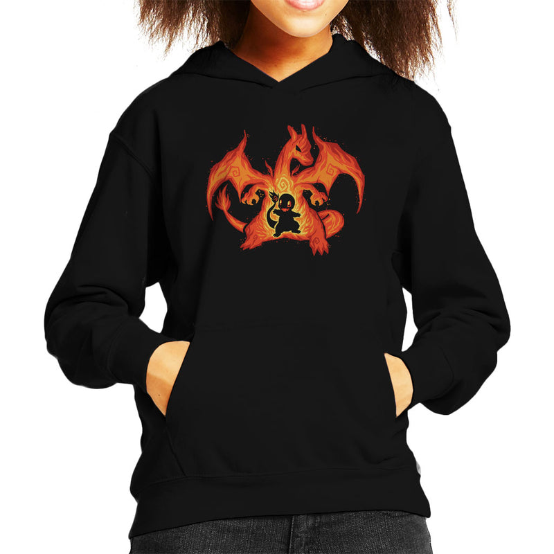 Fire Dragon Within Charizard Charmander Pokemon Kid's Hooded Sweatshirt by TechraNova - Cloud City 7