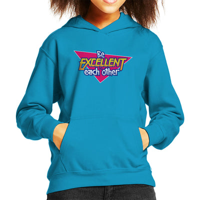 Bill And Ted Be Excellent To Each Other Logo Kid's Hooded Sweatshirt by Adho1982 - Cloud City 7