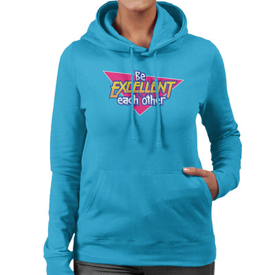 Bill And Ted Be Excellent To Each Other Logo Women's Hooded Sweatshirt by Adho1982 - Cloud City 7