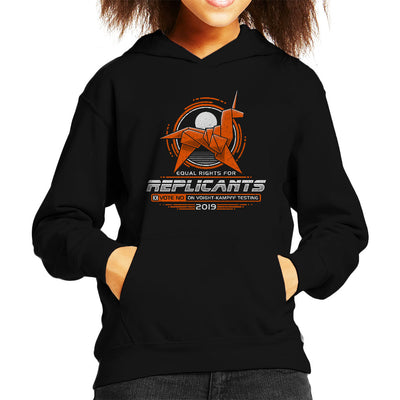 Blade Runner Replicant Rights Kid's Hooded Sweatshirt by Adho1982 - Cloud City 7