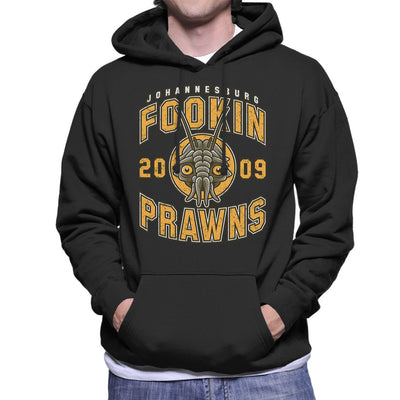 District Nine Fookin Prawns Varsity Logo Men's Hooded Sweatshirt by Adho1982 - Cloud City 7