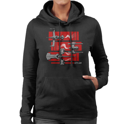 Cowboy Bebop Gateway Shuffle Women's Hooded Sweatshirt by Adho1982 - Cloud City 7