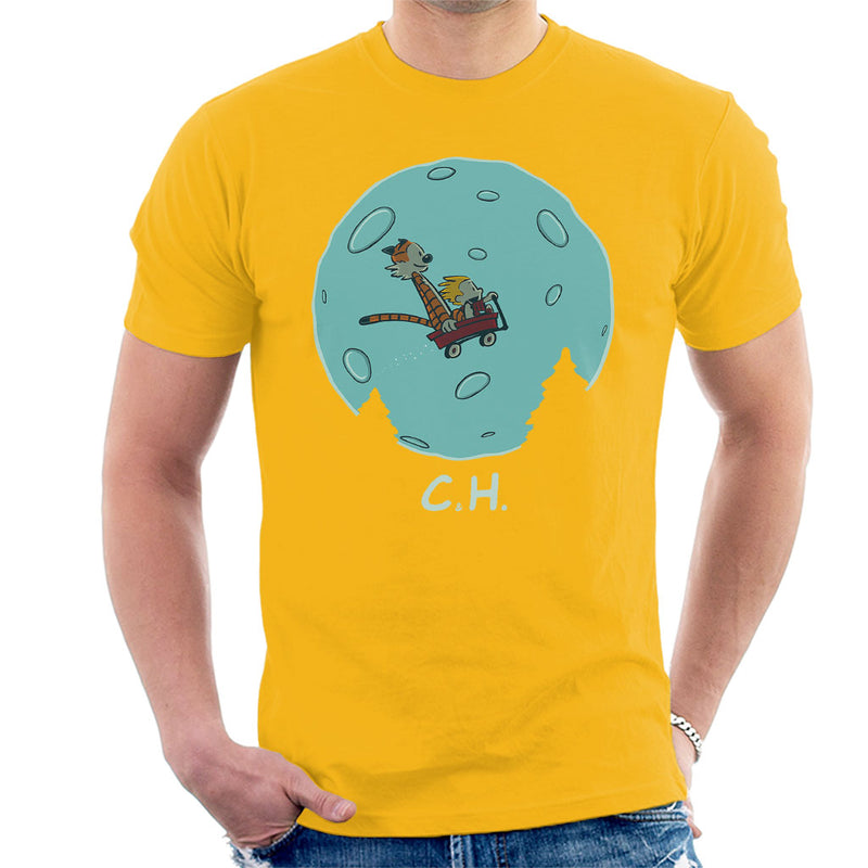 Flying Wagon CH ET Calvin And Hobbes Men's T-Shirt by Raffiti - Cloud City 7