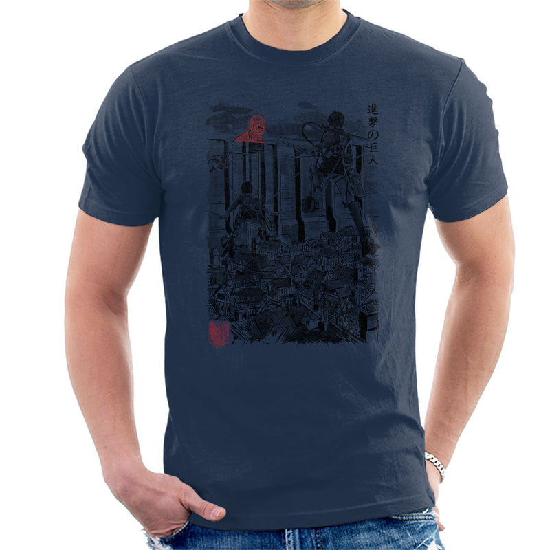 Attack On Titan Flying For Humanity Men's T-Shirt by Dr.Monekers - Cloud City 7